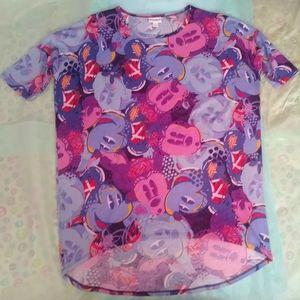 NWOT Disney (Mickey & Minnie) LuLaRoe Irma Top